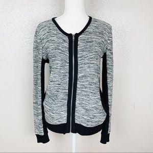 Splendid Knit Silk Blend Zip Up Cardigan Small